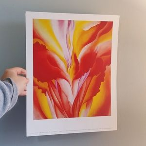 Georgia O'Keefe 'Red Canna' print